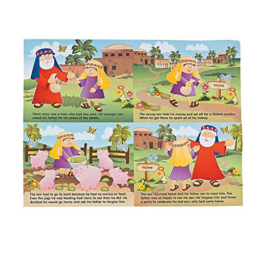 Fun Express - Make-A-Scene Parable Prodigal Son - Stationery - Stickers - Make - A - Scene (Lrg) - 12 Pieces -