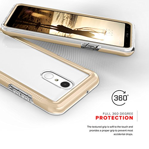 Zizo ION Series compatible with LG Stylo 4 Case Military Grade Drop Tested with Tempered Glass Screen Protector GOLD CLEAR by Zizo (Image #1)