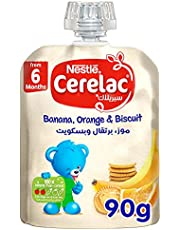 Cerelac Banana, Orange and Biscuit Baby Food, 90g - Pack of 1