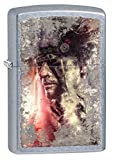 Zippo Native American Pocket Lighter, Street Chrome