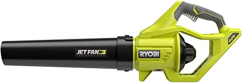 Ryobi RY40406BTL 40 Volt 110 MPH 500 CFM Cordless Jet Fan Leaf Blower 40V. Bare Tool Battery and Charger NOT Included Renewed