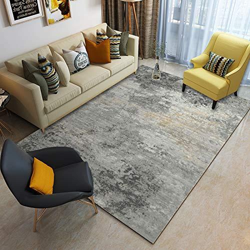 Liveinu Alfombra De Diseno Moderna Contorneada Moquetas Pelo Corto Alfombras Salon con Bases Antideslizantes 160x230cm XK05-2