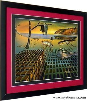 amazon com dali poster print framed art by salvador dali melting
