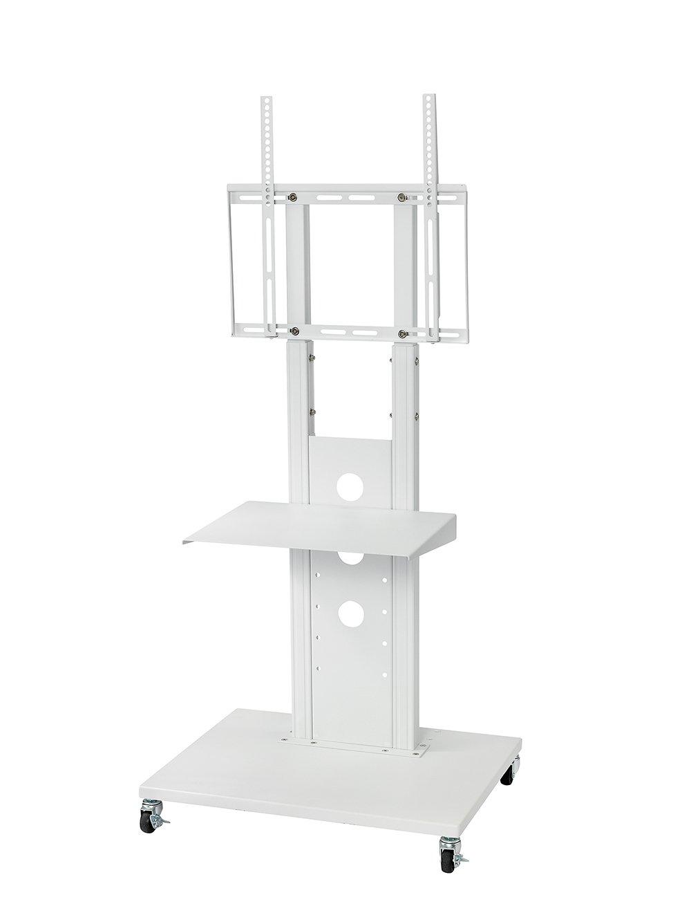 32型~52型液晶テレビ壁寄せスタンド OCF-450Ⅲ (ホワイト, 棚板+キャスター付き) 棚板+キャスター付き ホワイト B01BXTTB92