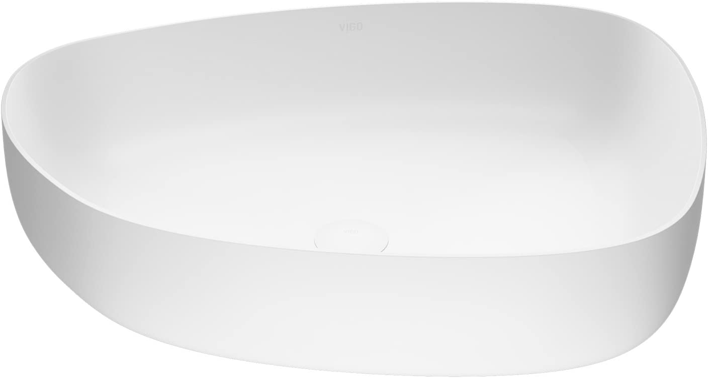 VIGO VG04012 Peony Matte Stone Vessel Bathroom Sink