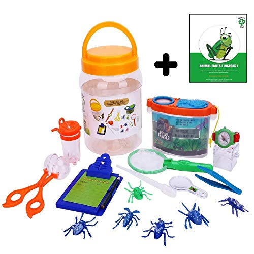 Adventure Nature Kids - Bug Catcher, Habitat Bucket, Tongs, Magnifier, eBook & More. Educational Toys Kit, Great Set for 3, 4, 5, 6+ Year Old Boys & Girls | Christmas, Birthday Gifts for Children ()
