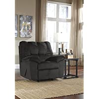 Ashley Furniture Signature Design - Julson Recliner - Rocker - 1 Pull Manual Reclining - Ebony
