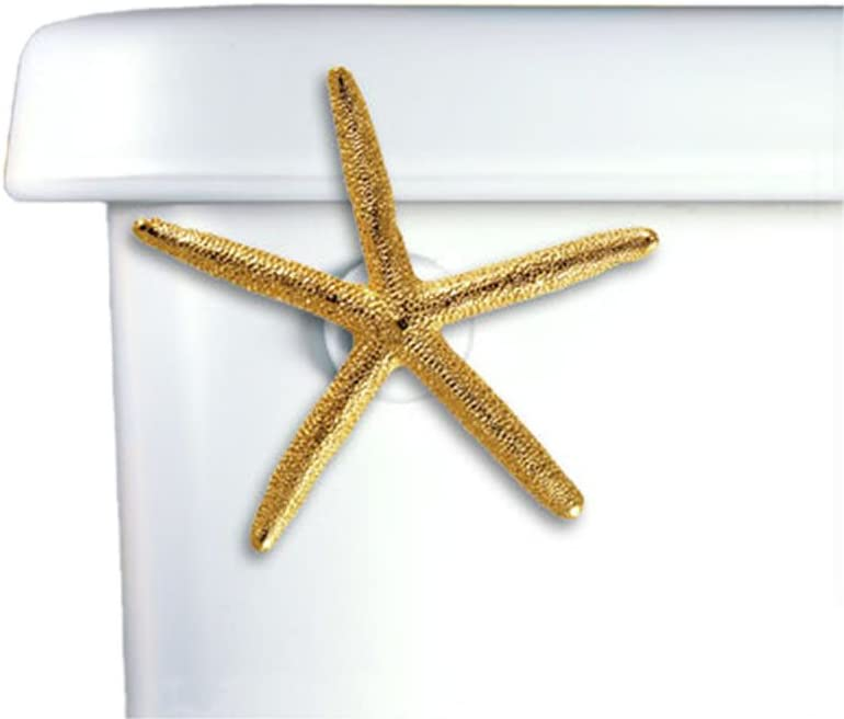 Oil Rubbed Bronze Home Accents Spider Starfish Decorative Toilet Handle Side Tank Mount