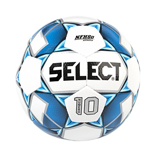 Select Numero 10 Soccer Ball, White/Royal Blue, Size 5