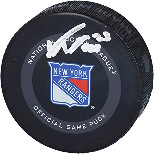 Adam Fox New York Rangers Autographed 2019 Model Official Game Puck - Fanatics Authentic Certified - Autographed NHL Pucks
