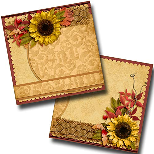 Autumn Whispers Non-Photo-Mat - Premade Scrapbook Pages - EZ Layout 3513