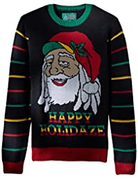 Ugly Christmas Sweater Mens Light-up - Happy Holidaze Sweater
