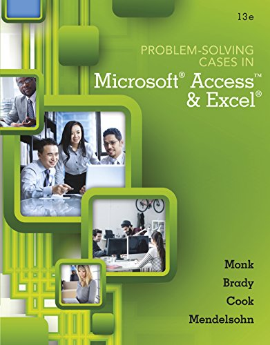 Problem Solving Cases In Microsoft Access and Excel Pdf