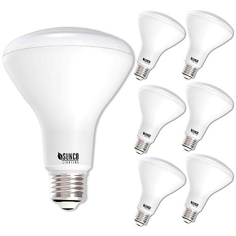 Sunco Lighting 6 Pack BR30 LED Bulb 11W65W 3000K Warm White 850