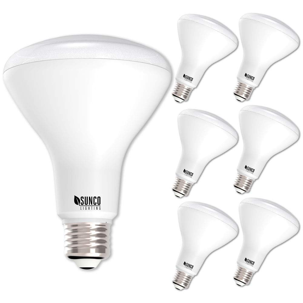 Sunco Lighting 6 Pack BR30 LED Light Bulb 11 Watt (65 Equivalent) Flood Dimmable 3000K Kelvin Warm White 850 Lumens Indoor/Outdoor 25000 Hrs For Use In Home, Office And More UL & ENERGY STAR LISTED