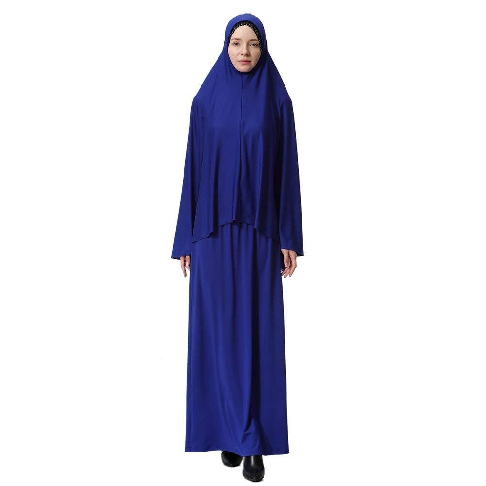 Laisla fashion Abaya Muslim Ladies Abiti Musulmani Abbigliamento Islamico Two Piece Full Classiche Hijab Dress Robe Suit Abaya Ragazzi Sciarpa Dress Robe Dress Prayer Dress Top E Dress Set Style A
