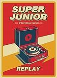 スーパージュニア - REPLAY (Vol.8 Repackage) CD+Booklet+Folded Poster [KPOP MARKET特典: 追加特典フォトカード] [韓国盤]