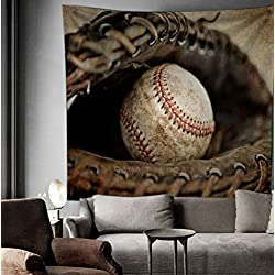 """Baseball Wall decor Tapestry Wall Hangings Home Decor,60""""x 80"""",Twin Size"""