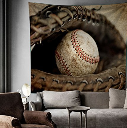 Baseball Wall decor Tapestry Wall Hangings Home Decor,60