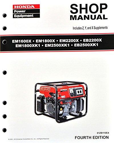 Honda EB2200 EB2500 EM1600 EM1800 EM2200 EM2500 Generator...