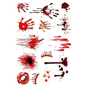 Temporary Tattoos Sticker, Oksale® 5Pcs Halloween Wound Scab Blood Pattern Scar Decor Paper