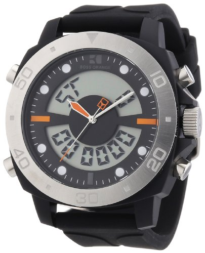 BOSS Orange Dual Movement Rubber Strap Watch by Hugo Boss