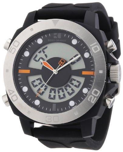 Price comparison product image BOSS Orange Dual Movement Rubber Strap Watch