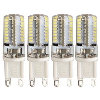 TOOGOO (R) 4 x G9 3W 64 LED 3014 SMD Lampara Bombilla 3000K Luz Blanco Calido: Amazon.es: Iluminación