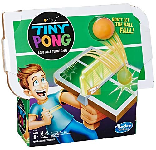 Tiny Pong Solo Table Tennis Kids Electronic Handheld Game Ages 8 and Up - Pong Ping Table Unit