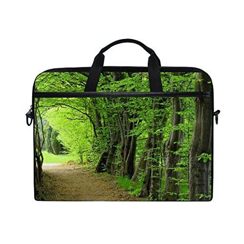 jstel Bäume Wälder Path Laptop Schulter Messenger Tasche Fall Sleeve für 35,6cm zu 39,6cm mit verstellbarer Notebook Schultergurt