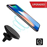 qi note edge - XIHE Wireless Car Charger Qi Magnetic Wireless Car Charger [2018 Upgrade Edition] for iPhone X/8/8 Plus Samsung Galaxy S9 S8 Note 8 Plus S7 S6 Edge Note 5 and All QI-enabled Devices …