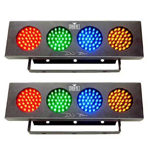 Chauvet DJ Bank RGBA LED Sound Active Color Party Wash Effect Light (2 Pack) by CHAUVET DJ