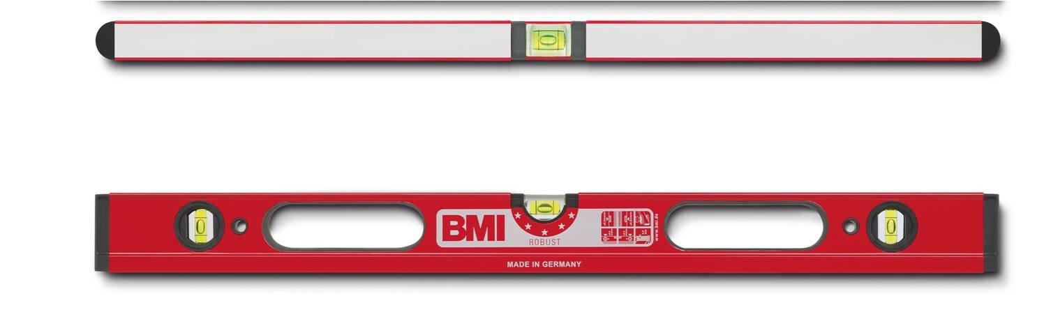BMI 698080D Wasserwaage Robust, Lä nge 80 cm, 2 Durchgriffe, pulverbeschichtet