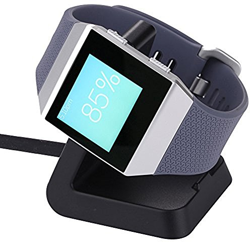 CAVN for Fitbit Ionic Charger Dock, Replacement Charging Charger Station Stand Cradle Holder Dock for Fitbit Ionic Smart Watch with 3 FT USB Cable