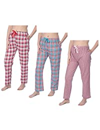Beverly Rock Womens 100% Cotton Plaid Lounge PantsAvailable In Plus Size