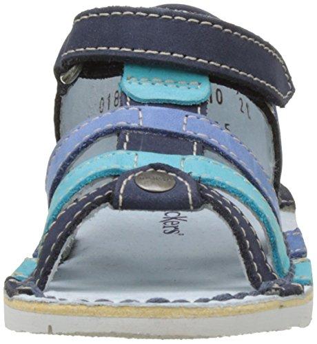 Kickers Woopy - Patucos de cuero Bebé - niño Bleu (Marine Turquoise)