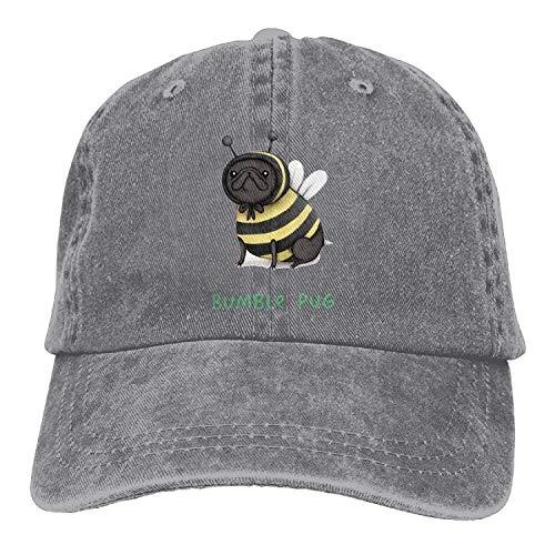 HU MOVR Cowboy Hat Bumble Pug Bumblebee Adjustable Cowboy Style Cap for Unisex Adult (Bee Bumble Toddler Cap)