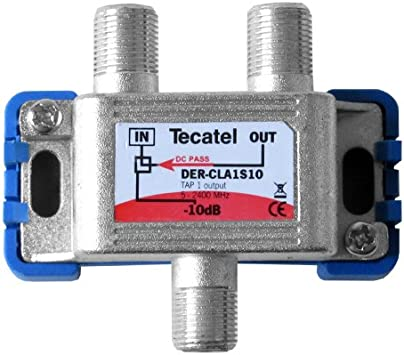 Tecatel DER-CLA1S10 - Derivador Serie Class A1, Color Gris ...
