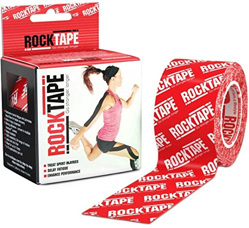 RockTape Original 2-Inch Water-Resistant Kinesiology Tape, 16.4-Foot Continuous Roll, Red Logo (Logo Für Ferrari)
