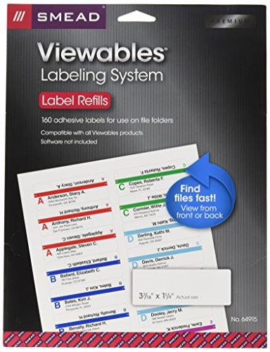 SMD64915 - Smead Viewables Color Labeling System - Color Labeling System