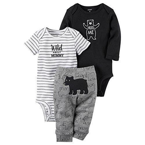 Carter's Baby Boys' 3 Piece Wild Bear Set Preemie