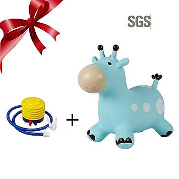 Per Saltadores Hinchables Juguetes para Niños con Bomba Caballo Inflable de Saltar Infantiles de PVC: Amazon.es: Hogar