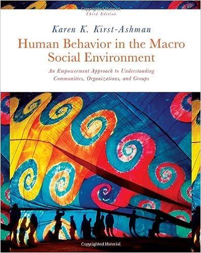 Human Behavior in the Macro Social Environment (Human Behavior in the Social Environment) by Kirst-Ashman, Karen K. (February 12, 2010)