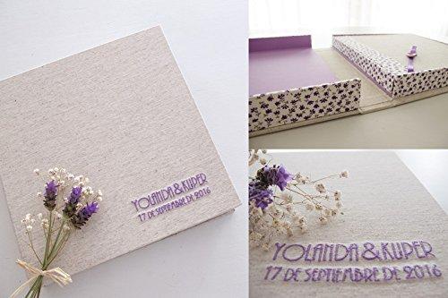 Libro de firmas con caja de conservación: Amazon.es: Handmade