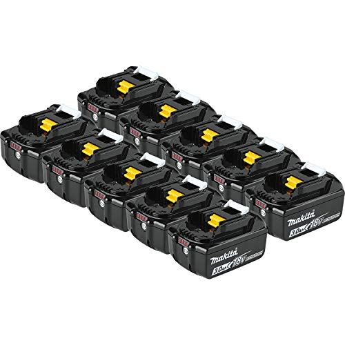 Makita BL1830B-10 18V LXT Lithium-Ion 3.0 Ah Battery (10 Pack)