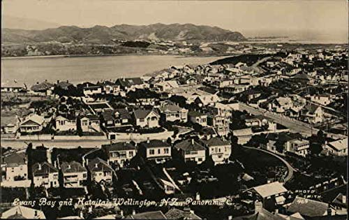 Evans Bay and Hataitai Wellington, New Zealand Original Vintage Postcard