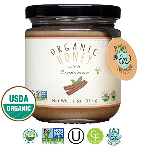 GREENBOW Organic Honey with Cinnamon - 100% USDA Certified Organic, Gluten Free, Non-GMO Organic Cinnamon Honey - Highest Quality Whole Food Organic Cinnamon Honey – 11oz (311g) (Cinnamon Organic Honey)