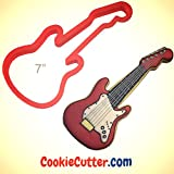 Electric Guitar Cookie Cutter 7 in
