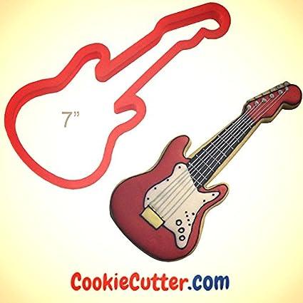 Electric Guitar Cookie Cutter 7 in