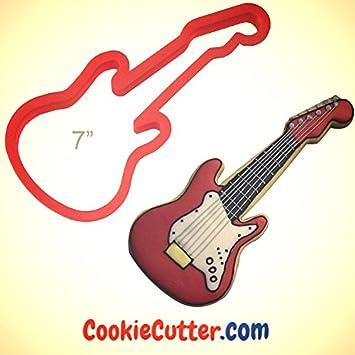 Cortador de galletas con forma de guitarra eléctrica, 17,78 cm: Amazon.es: Hogar